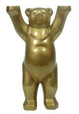 Buddy Bear Berlín Gold Edition nuevo/en el embalaje original de oro Berliner oso 22cm placa de vidrio