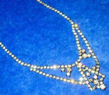Jay Flex Art Deco Period Sterling Silver Clear Swarovski Necklace, ca1930