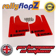 rallyflapZ SUZUKI SWIFT ZC72S (2010 Guardabarros Rojo Logo Negro (3mm PVC)