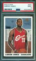Lebron James Rookie Card 2003-04 Fleer #261 PSA 9