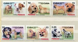 FAUNA_1092 2006 animals dogs 6 pc MNH Combined payments & shipping
