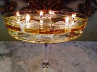 AROMAGLOW  MAGICAL FLOATING CANDLES FUELLED BY OIL WEDDING TABLE CENTREPIECE RED