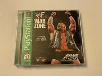 🔥 WWF WAR ZONE 🔥 PS1 PlayStation 1 PSX 💯 COMPLETE GREEN LABEL GAME 🔥