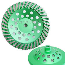 "7"" Premium Turbo Diamond Cup Wheel for Granite Hard Concrete - 30/40 Grit"