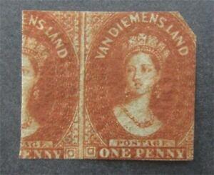nystamps British Australian States Tasmania Stamp # 10 Mint OG H $8250  U18y1540