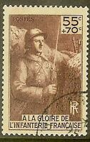 "FRANCE TIMBRE STAMP N° 386 "" ERECTION MONUMENT INFANTERIE "" OBLITERE TB"