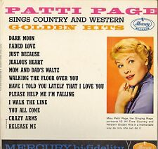 "PATTI PAGE ""SINGS COUNTRY & WESTERN GOLDEN HITS"" POP VOCAL 60'S LP MERCURY 20615"