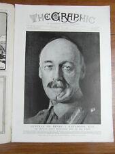 genre L ILLUSTRATION : WWI WAR GUERRE 14/18 : revue THE GRAPHIC 1917 Nr 2458