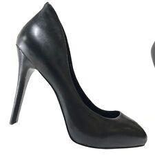 BCBG Generation Womens Shoes Bristol Black Leather High Heels Stiletto Pumps 8M