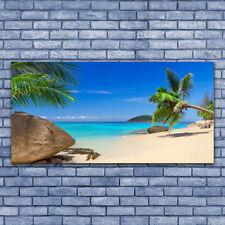 Acrylglasbilder Wandbilder aus Plexiglas® 140x70 Strand Meer Steine Landschaft