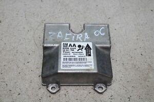 Opel Zafira B Bj.06 Airbagsteuergerät Steuergerät 13241766 entheiratet