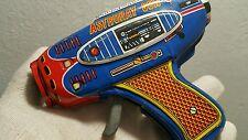 Vintage Space Gun Tin Toy Friction Japan Astroray Cosmonaut Pistol Original