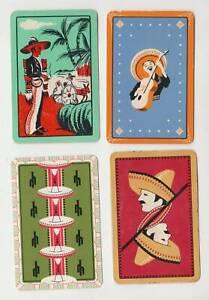 Q362 Vintage Swap Cards  assortment mixture mexican cards c1960's