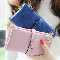 Cute Women Leather Long Purse Ladies Clutch Coin Phone Bag Wallet Card Holder