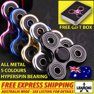 Aluminum Alloy Body EDC Fidget Spinner High Speed Premium R188 Bearing Metal GTC