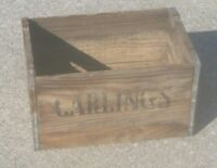 OLD Vintage Carling's Wood Beer Box Crate CLEVELAND OHIO BREWERY BREWING COMPANY