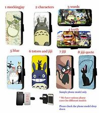 Totoro Jiji cat leather wallet phone case Samsung S7 edge Z5 compact A3 A5 A310