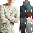 Mens F&F / George Chunky Cable Knitted Weave Pullover Jumper Thick Warm Sweater