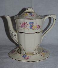 Art Deco Alfred Meakin Marigold Astoria Tea Pot & Stand Vintage