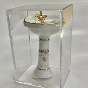 Reutter Porcelain Miniature Dollhouse Victorian Rose Corner Sink 1:12 Scale
