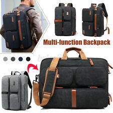 Men Multifunction Backpack Messenger Bag Laptop Business Briefcase Shoulder Bag
