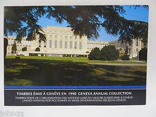 United Nations UN Souvenir Stamp Folder - 1990, Geneva, MNH Scott 182-192