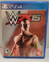 WWE 2K15 PS4 Sony Playstation 4 CIB Wrestling complete game John Cena Triple H