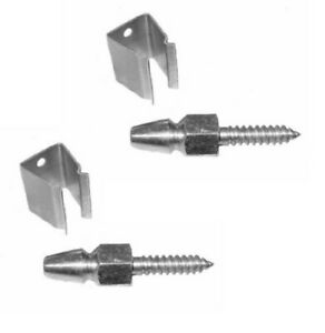 Bullet Catches 1 pair (Stainless Steel)