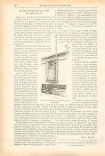 Elevateur Pneumatique Transport des Bagages en Chemin de Fer GRAVURE PRINT 1899