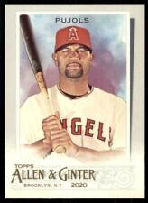 2020 Topps Allen and Ginter Base #110 Albert Pujols - Angels