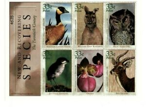 Palau - 2000 - Recovering Species - Sheet of Six - MNH