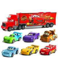 7Pcs Toys Cars Cartoon Action Figure Model Lightning McQueen Truck Kids Gift