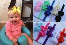 Newborn girl headband 10pcs small baby bow infant set kids hairbands US seller