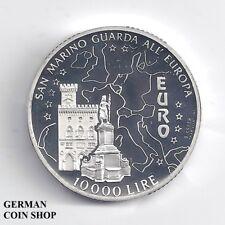 San Marino 10000 Lire 1996 Palazzo Publico PP Silber - Silver proof