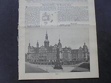 1899 Baugewerkszeitung 63 / Dresden Königliche Schloss