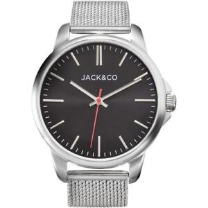 Mens Wristwatch JACK & CO. JW0165M2 Stainless Steel Black Mesh NEW