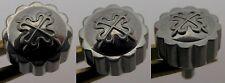 Genuine Patek screw crown in solid white gold, diameter 5.8 millimeters