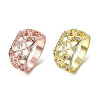 18K Rose Gold Plated Fashion Ring AAA Zirconia Women B244