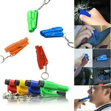 Car Emergency Escape Glass Breaker Seat Belt Cutter Hammer Whistle Key Chain