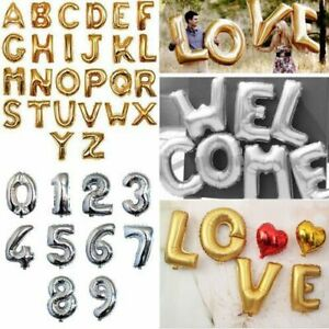 16 inch Foil Balloon Letter & Number Design For Wedding Birthday Party