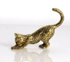 Cat Figurines The Franklin Mint 1986 Tfm Brass Cat