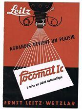 LEITZ FOCOMAT Ic Prospekt/Leaflet /Prospectus - 8 Pages/Seiten -1952