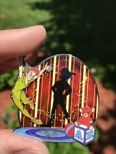DISNEY STORE PARK PACK PIN-PETER PAN & HIS SHADOW—RED STAINED GLASS—LE500