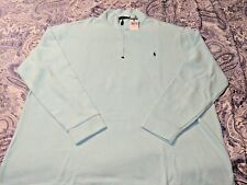 ***3XLT***Polo Ralph Lauren Light Green Mens 3/4 Zip Mock Neck Pullover Top