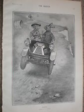 March by G L Stampa cartoon 1903 print ref W2