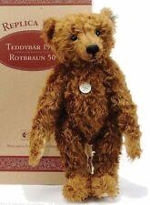 """Steiff Teddy Girl Bear, LE, 404306, Made 1997-99, AUTOGRAPHED, Mohair, 19"""", MIB"""