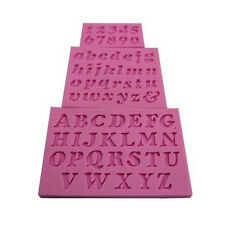 3X  Letter Number Silicone Handmade Fondant Cake  Decorating DIY Mould