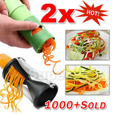 2PK Fruit Vegetable Peeler Spiralizer Spiral Slicer Cutter Twister Food Tool