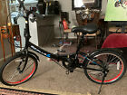 Folding bicycle, will fit in even a small trunk.Black 8speed