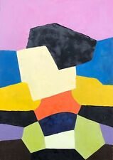 Superbe Tableau Huile Abstraction Abstrait Gout Serge Poliakoff #3